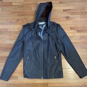 Men's Shades Of Greige Jacket Gray Coat Size Large